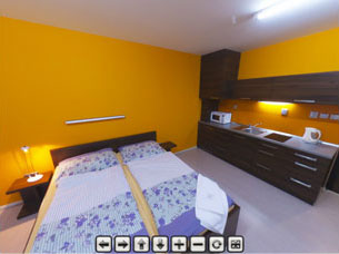 Guesthouse BLUE (Building B) – twin bed room